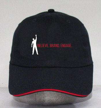 Thought leader and CEO Wayne Elsey wants you to Believe, Brand, and Engage with this new baseball cap design